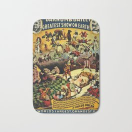 1890 Barnum and Bailey Greatest Show on Earth A Child's Dream Vintage Poster Bath Mat