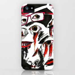 Face collage iPhone Case