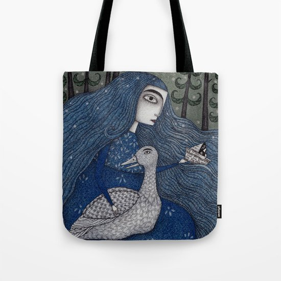 The White Duck Tote Bag