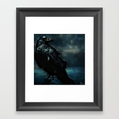 The crow of the lost island Framed Art Print