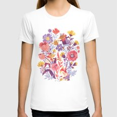The Garden Crew White LARGE Womens Fitted Tee