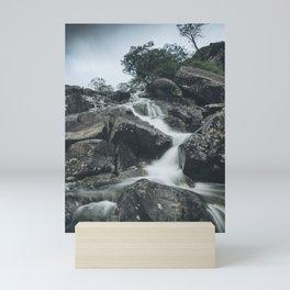 Snowdonia Waterfall Mini Art Print
