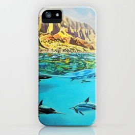 view of Kauai, HI iPhone Case