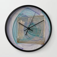 square Wall Clocks featuring Square  by Christy Leigh