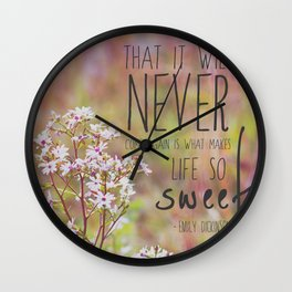 the sweet life  Wall Clock