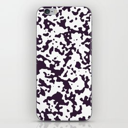 Spots - White and Dark Purple iPhone Skin