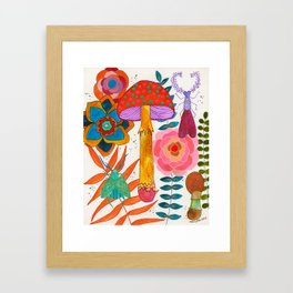 Gathering Story Seeds Framed Art Print