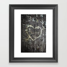 The Carving Tree - I Love You Framed Art Print