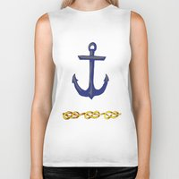 nautical Biker Tanks featuring Nautical by DesignSam