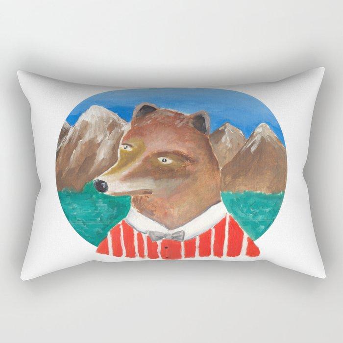Fox of Lion Rectangular Pillow