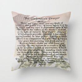 US Marine Corps - Defender's Prayer Throw Pillow