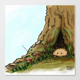 Peekink Hedgehog Canvas Print