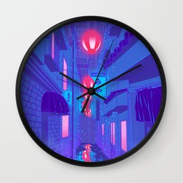 Shibuya Nights Wall Clock