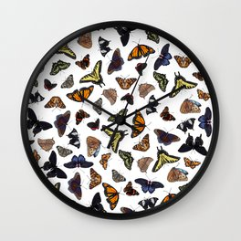 Butterflies All Over Wall Clock
