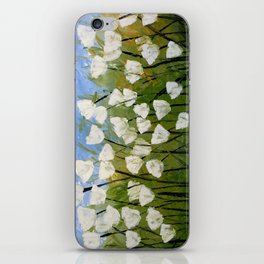Abstract Floral Art ... WHITE TULIPS, by Amy Giacomelli iPhone Skin
