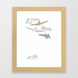 Sky time Framed Art Print