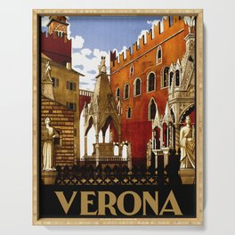 Vintage Verona Italy Travel Serving Tray