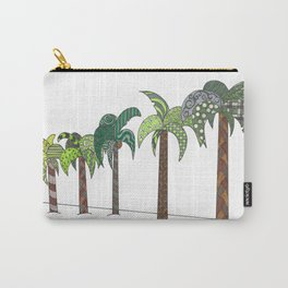 Palm Tree Lined Street Carry-All Pouch