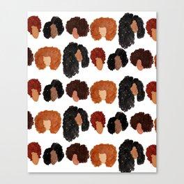 Natural Hair Girls Canvas Print