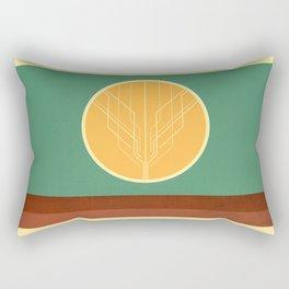 Red Desert Rectangular Pillow