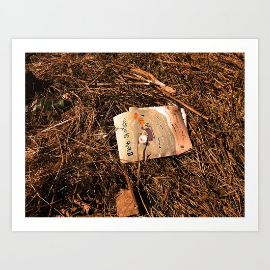 On What You Leave Behind Art Print