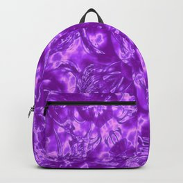 Ultra Violet and White Fashion Design Backpack