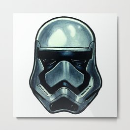 The Chrome Stormtooper Metal Print