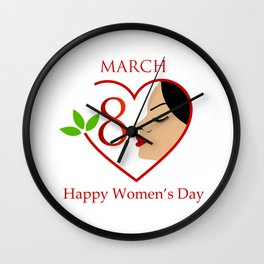 Happy womens day- she persisted gifts Wall Clock