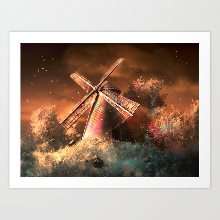 Color the wind Art Print