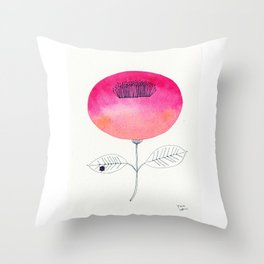 Flower of happiness Throw Pillow
