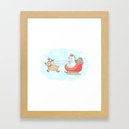 Unicorn Sleigh Framed Art Print