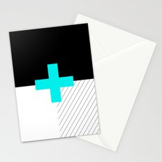 Neon Cross (Blue) // Neon Plus (Blue) Stationery Cards