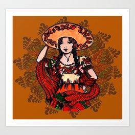 Adelita the Dancer Art Print