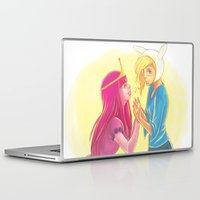 princess bubblegum Laptop & iPad Skins featuring Fiona and Princess Bubblegum by Dani Taillefer