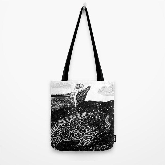 The Shimmering Sea Lights Tote Bag