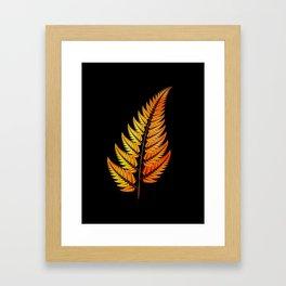 Golden Fern Framed Art Print
