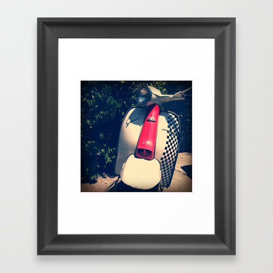 Lambretta Scooter Framed Art Print