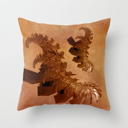 spiral forms on grungy texture -1- Throw Pillow