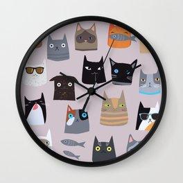 Cats comunity Wall Clock