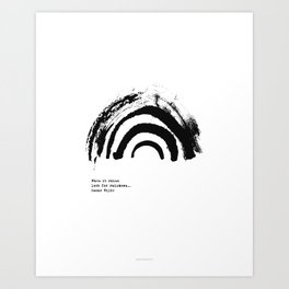 Rainbow Black & White  Art Print