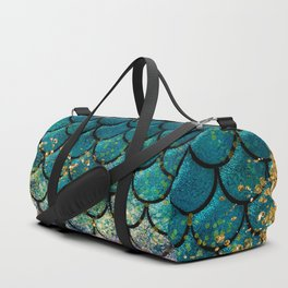 Rainbow Glitter Sparkly Scales Duffle Bag
