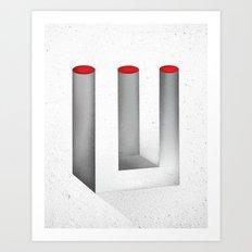 Optical Illusion no.2 Art Print