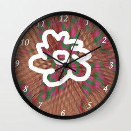 White Flower S11 Wall Clock