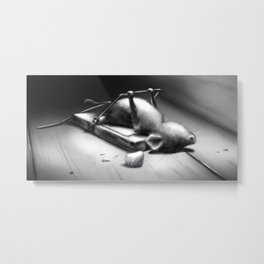 Seriously Strong Cheddar by dana alfonso Metal Print