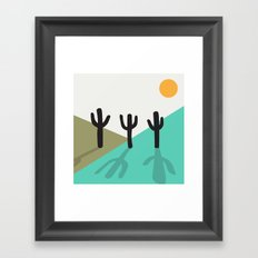 Cactus in the desert Framed Art Print