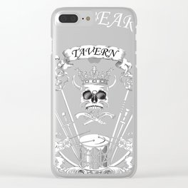 Blackbeard's Tavern Pirate Design  Clear iPhone Case