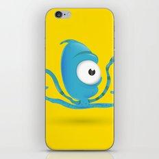 Octopus Blue/Yellow iPhone & iPod Skin
