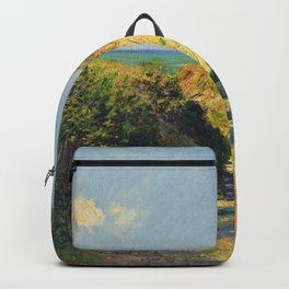 """Claude Monet """"Le chemin creux"""" """"(The hollow road)"""" Backpack"""