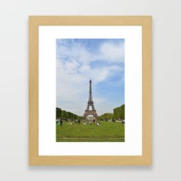 The Eiffel Tower From the Champ de Mars Framed Art Print