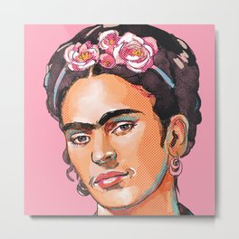 Frida Kahlo - Feminist Icon Metal Print